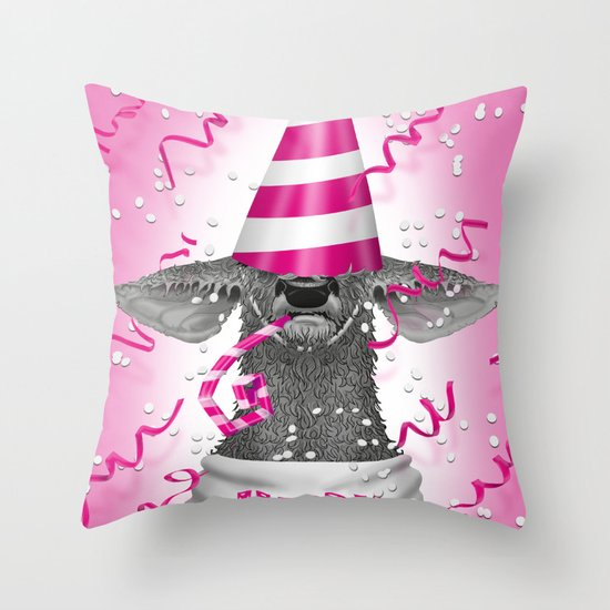 Happy birthday dear deer Throw Pillow