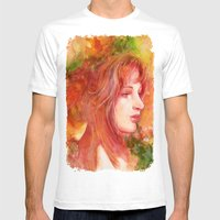 Fall leaves Mens Fitted Tee White SMALL