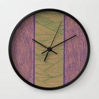 Green and Purple Wall Clock