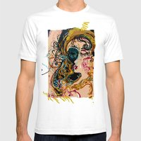Danae And Shower Of Gold Mens Fitted Tee White SMALL
