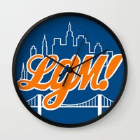 Let's Go Mets Wall Clock