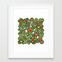 Burgers Everywhere Framed Art Print