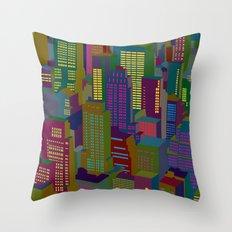 Cityscape night Throw Pillow