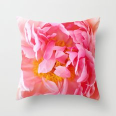 Peonies Forever II Throw Pillow