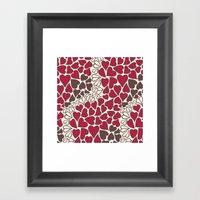 HEARTS  ~  CRIMSON, CLEA… Framed Art Print