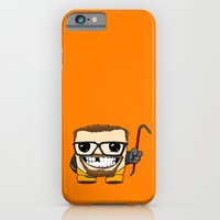iPhone Cases featuring Gordon Meatman by jaggedsnail