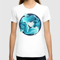 underwater guardians - fishes Womens Fitted Tee White SMALL
