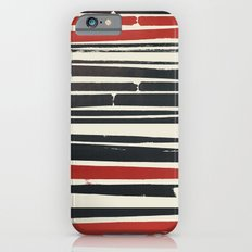 Navy Red Stripes iPhone 6 Slim Case