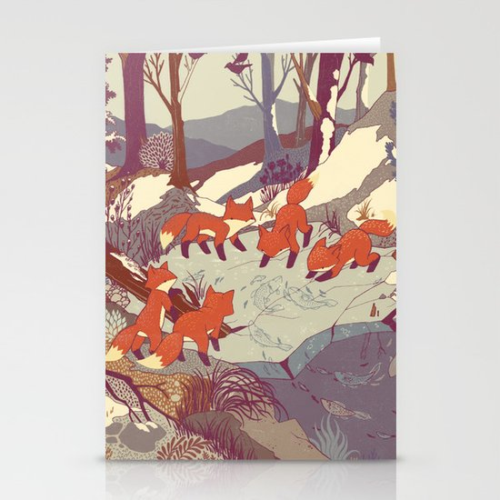 Fisher Fox Stationery Card
