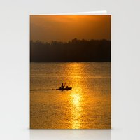 Sunset trip Stationery Cards