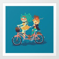 Medusa & The Pied Piper Art Print