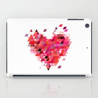 Heart1 Red iPad Case