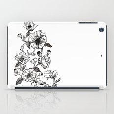 White poppies iPad Case