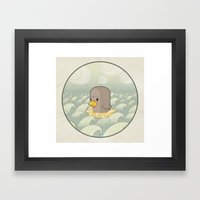 Chick Across The Sea Framed Art Print
