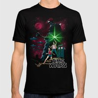 Time Wars Mens Fitted Tee Black SMALL