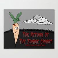 The Zombie Carrot Canvas Print