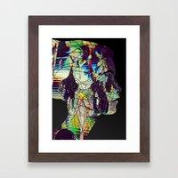 Glitched Girl Framed Art Print