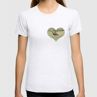 Rolling Horse Womens Fitted Tee Ash Grey SMALL