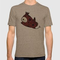 Colorful bird Mens Fitted Tee Tri-Coffee SMALL