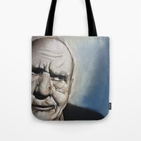 Elderly Man Tote Bag