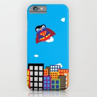 iPhone & iPod Case featuring Pengwin that is Super by Talking Pengwin