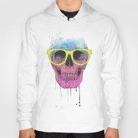 Pop art skull with glasses Hoody