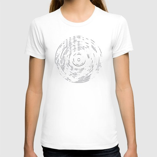 Record Black and White T-shirt