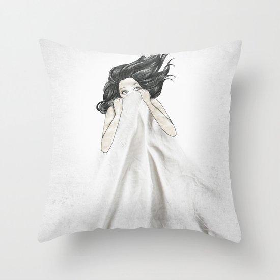 White As A Sheet Throw Pillow
