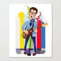 Elvis (Costello) Lives! Canvas Print