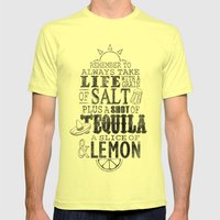 Life Is Like A Bottle Of… Mens Fitted Tee Lemon SMALL