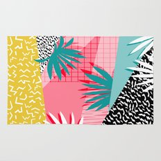 Bingo - throwback retro memphis neon tropical socal desert festival trendy hipster pattern pop art  Rug