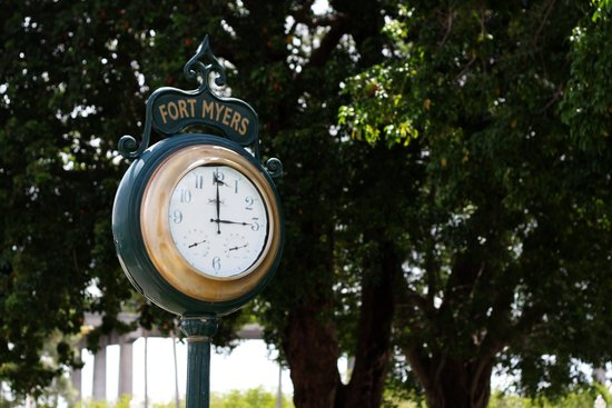 Fort Myers Clock Art Print