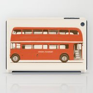 Red London Bus iPad Case