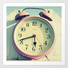 Pink Clock Art Print