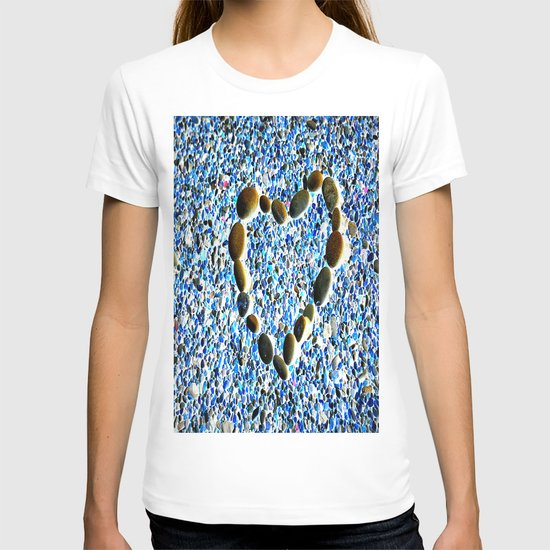 heart with stones T-shirt