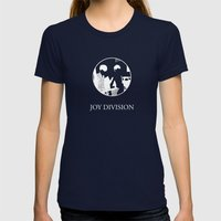 Joy Division Design Womens Fitted Tee Navy SMALL