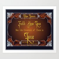 The Greatest Is Love Art Print