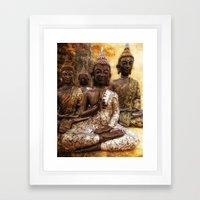 the 4 Buddhas Framed Art Print