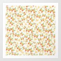 Butterflies and Dragonflies Art Print