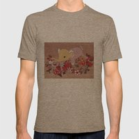 Elephant in the flowers Mens Fitted Tee Tri-Coffee SMALL