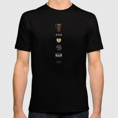 Twin Peaks SMALL Black Mens Fitted Tee
