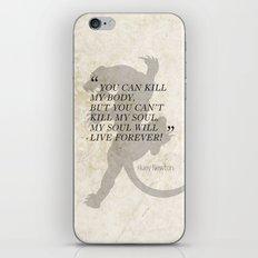 Famous Last Words: Huey Newton iPhone & iPod Skin