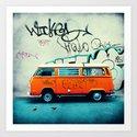 VW Van Art Print