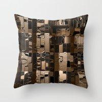 Abstract Gold Graphic De… Throw Pillow