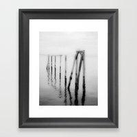 Broken Apart Framed Art Print