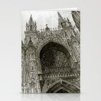 Rouen facade Stationery Cards