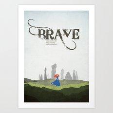 Brave - minimal poster Art Print