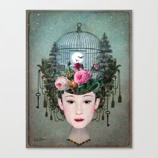 Moonlight Garden Canvas Print