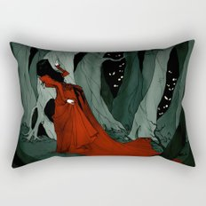 Snow White Lost in the Woods Rectangular Pillow