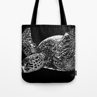 Beneath the Waves the Sea Turtle Swims Tote Bag